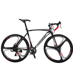Road-Bike-Disc-Brakes-Shimano-21-Speed-Bicycle-700C-Mens-Bikes-54cm-Present-New