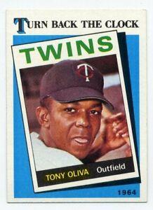 1989-Topps-TONY-OLIVA-Rare-TURN-BACK-CLOCK-SUBSET-665-Minnesota-Twins-HOF-89