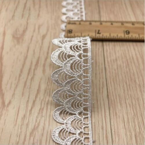 DIY 5Yards Fish scales embroidery lace necklace underwear lace decoration