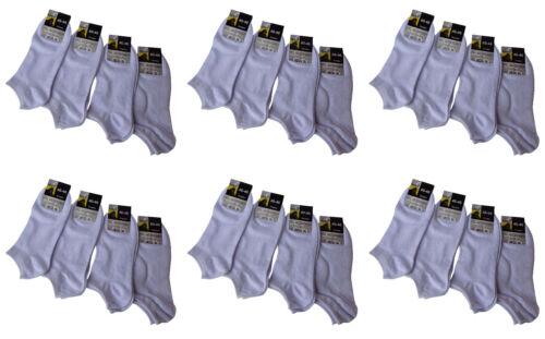 Paar ab 0,61€ 40-46 mit 80 /% Baumwolle 12//24//36 Paar Sneaker Socken weiß Gr