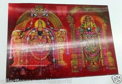 Hindu Religious Lord Tirupati Balaji & Maa Padmavati 3D Lenticular Poster Photo