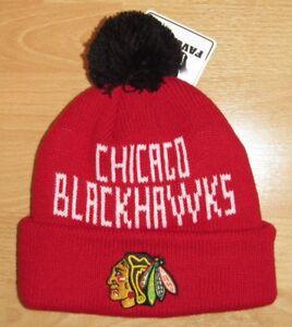 bf15685a27a Image is loading Chicago-Blackhawks-Fan-Favorite-Cuffed-Winter-Knit-Hat-