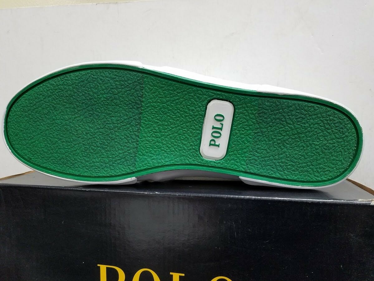 Polo Ralph Lauren  Uomo Faxon Niedrig Pure Weiß In Calvary Twill Schuhes New In Weiß Box 4283b5