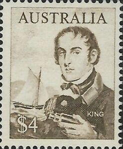 Australian-Last-MNH-1966-King-4-Navigators-Decimal-Stamp-Redsign-variety-Issue
