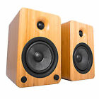 Kanto Yu6 Powered Speakers Bluetooth Phono Preamp - Bamboo