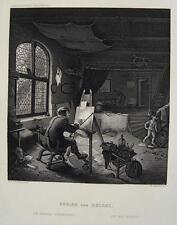 Adrian van Ostade Atelier Werkstatt Maler Staffelei Pinsel study Haarlem Holland