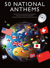 50 National Anthems Learn to PLAY World Tunes Piano Guitar PVG Music Book
