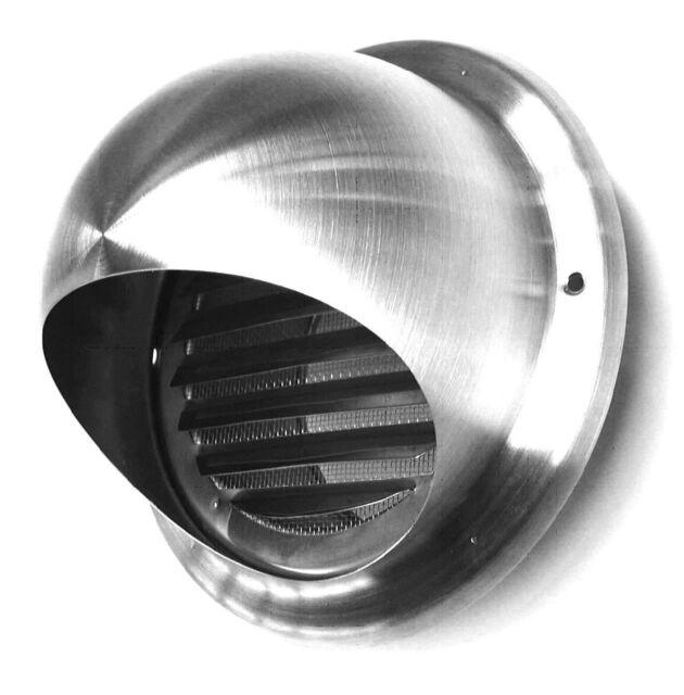Luftzylinder 125 mm mit Lamellengitter Edelstahl Wetterschutzgitter