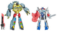 Transformers Age Of Extinction Silver Knight Optimus Prime & Grimlock Dinobot