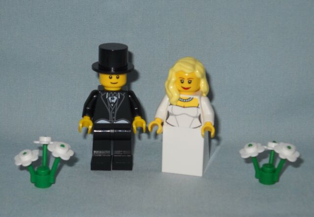 Buy Lego Wedding Blonde Bride And Groom With Top Hat Minifigures For