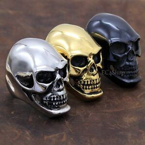 Men-039-s-Huge-Big-Punk-Gothic-Rock-Biker-Vintage-316L-Stainless-Steel-Skull-SS-Ring