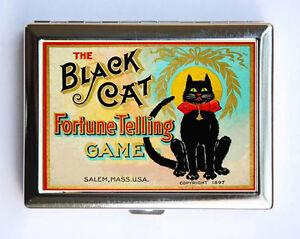 Black cat fortune telling game cigarette case wallet business card image is loading black cat fortune telling game cigarette case wallet colourmoves