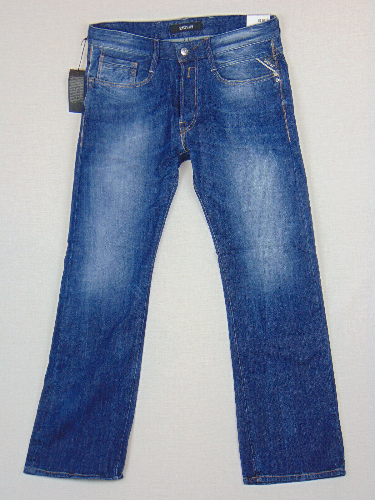 Replay BILLSTRONG Stiefelcut W32 L32 Mens Blau Comfort Denim Jeans