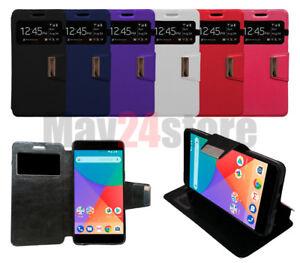 Funda-soporte-libro-ventana-Xiaomi-MI-A1-5X-protector-cristal-opcional