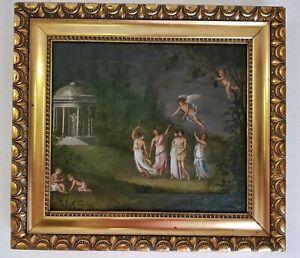 ANTIQUE-ORIGINAL-17th-CENTURY-MYTHOLOGICAL-OIL-PAINTING-ON-CANVAS