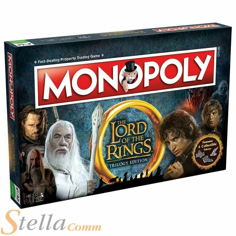 Lord Of The Rings Trilogy Edition Monopoly Family Board Game