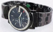 NEW MEN'S GUCCI 101 G YA101331 BLK PVD 1.92ct APPROXIMATELY DIAMOND WATCH ******