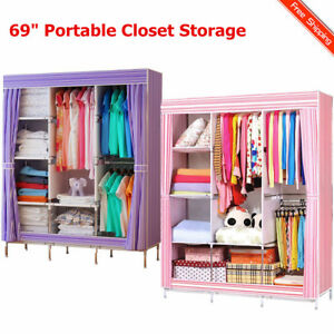 Image Is Loading 69 034 Portable Closet Storage Organizer Clothes Wardrobe
