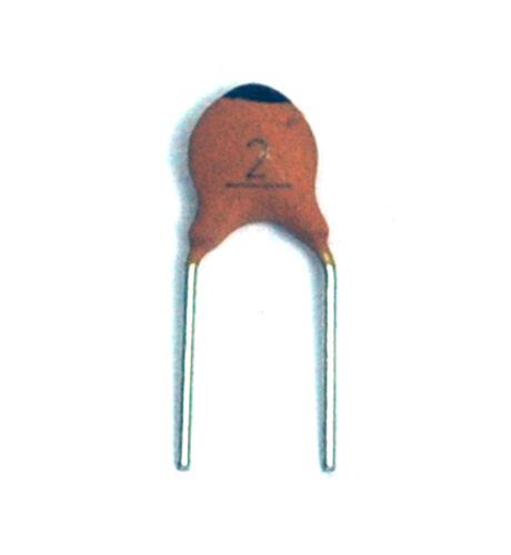 100pc Disc Ceramic Capacitor 2pF 50V ±0.25pF NP0 RoHS Taiwan NPO