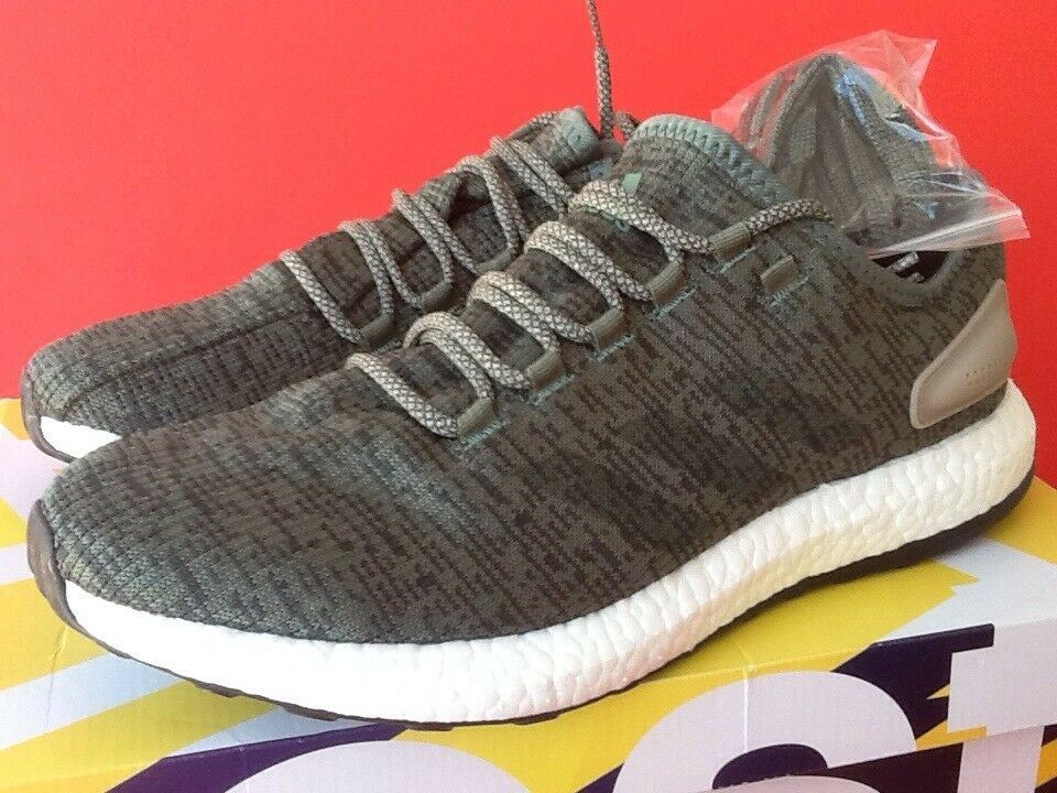Adidas Pureboost Running Shoes BA8903 Trace Green Olive Night Men's Size 12