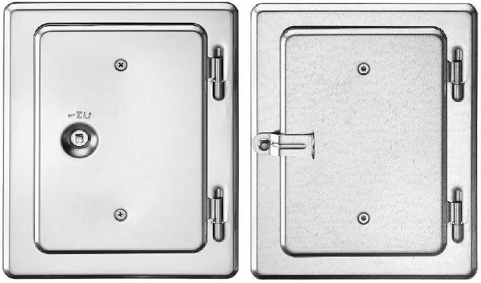 Upmann Kamintür K10 12 X 18 Cm Schornstein-tür Mit Vierkantverschluss Sonstige Heimwerker