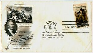 1968-Honoring-John-Trumbull-Famous-American-Artist-FIRST-DAY-COVER