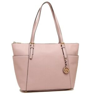 Michael Kors Jet Set Large East West Top Zip Leather Tote   Blossom by Michael Kors