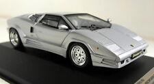PremiumX 1/43 SCALA pr0187 LAMBORGHINI COUNTACH 25th 1989 Auto Modello in RESINA D'ARGENTO
