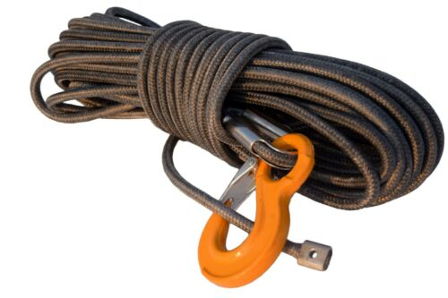 """Winch Cable Grey 1//2""""*100ft UHMWPE core with UHMWPE jacket Rope,Synthetic Rope"""