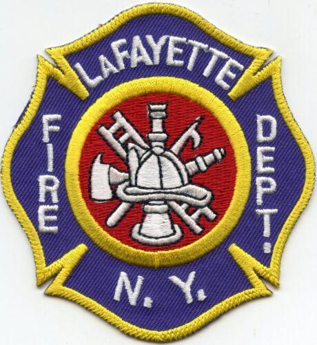 LAFAYETTE NEW YORK NY FIRE PATCH