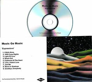 MUSIC GO MUSIC Expressions 2009 UK 9track promo test CD - <span itemprop=availableAtOrFrom>WE SHIP WORLDWIDE, United Kingdom</span> - Returns accepted Most purchases from business sellers are protected by the Consumer Contract Regulations 2013 which give you the right to cancel the purchase within 14 days afte - WE SHIP WORLDWIDE, United Kingdom