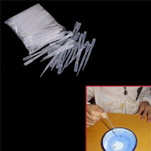 100PCS 3ML Transparent Pipettes Disposable Safe Dropper  Graduated Pipettes  X