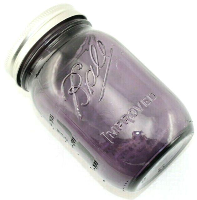 (1 Jar) PURPLE MASON JAR Ball 16 oz PINT American Heritage Vintage Wedding Glass