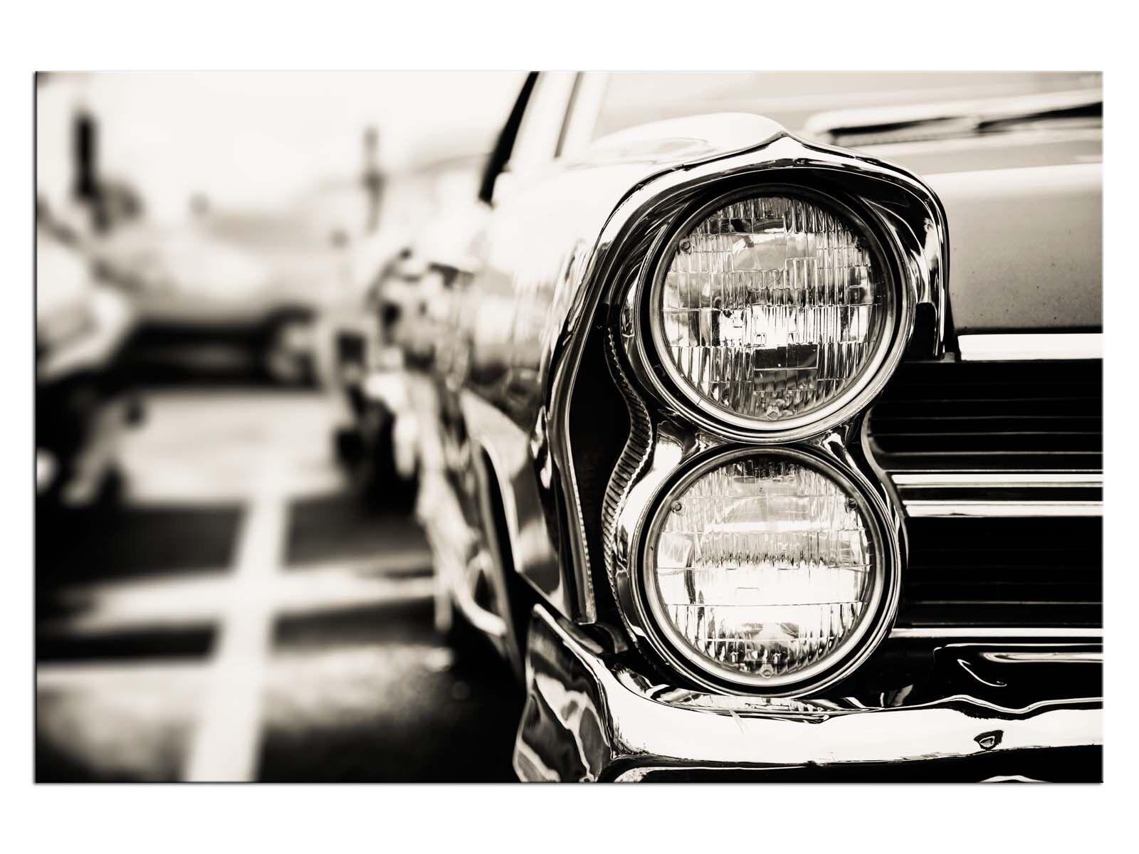 Classic Car Close Up Leinwandbilder auf Keilrahmen A06041 Wandbild Poster