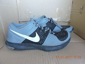 Nike FS Lite Trainer 615972-001 Men's Black/Gray Synthetic Sneakers size 9.5