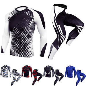 Men-039-s-Compression-Tights-Athletic-Base-Layers-Sports-Long-Pants-Quick-dry-Shirts