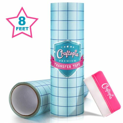 Craftopia Clear Vinyl Transfer Tape With Grid For Adhesive Vinyl Medium Tack