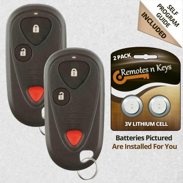 2x Car Transmitter Alarm Remote Key Fob Control For 2006