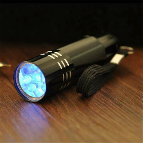 UV Ultra Violet 9 LED Blacklight Flashlight Light 395 nM Inspection Lamp Torch