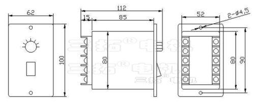 1Pcs US AC Moteur Vitesse Contrôleur Pour AC220V Single Phase CVT moteur Bolide
