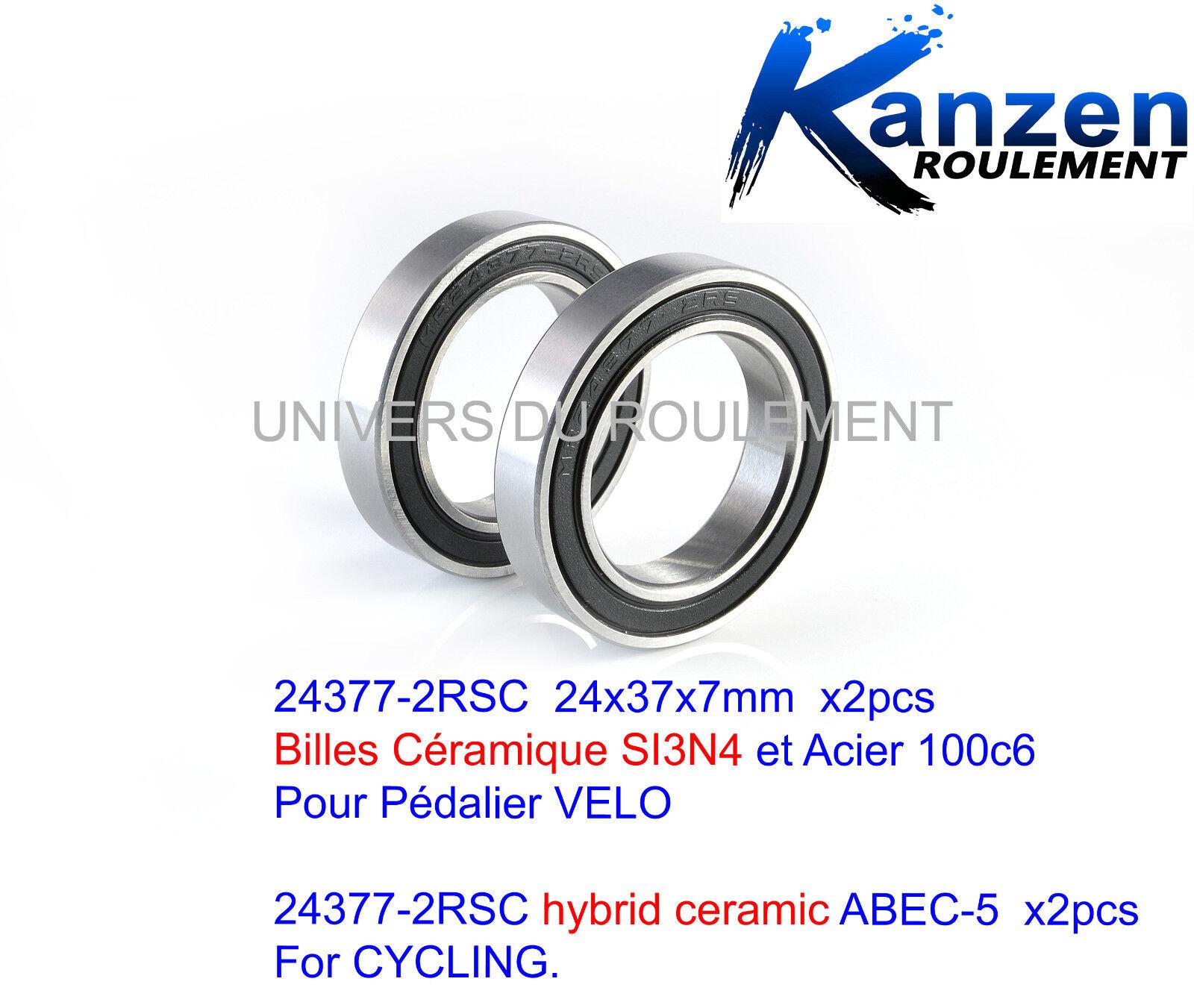 ROULEMENT A BILLES CERAMIQUE 24X37X7 24377 (2pcs) CYCLISME SRAM SHIMANO BB92