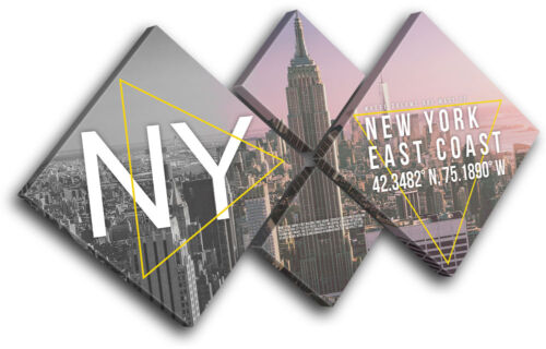 New York NY Typography City MULTI CANVAS WALL ART Picture Print