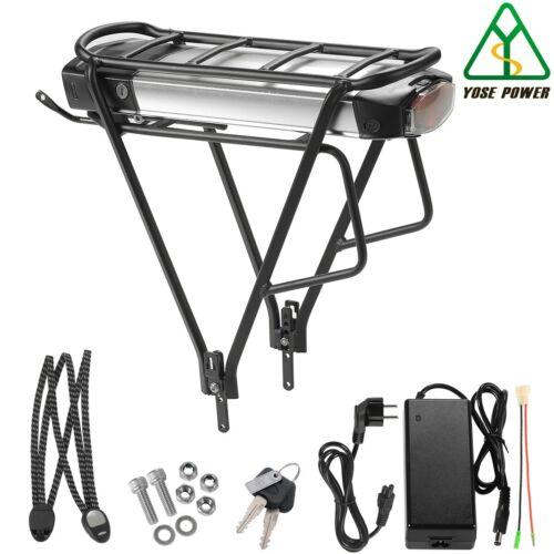 463Wh Fahrrad Batterie mit Gepäckträger YOSE POWER E-bike Akku 36V12,5Ah