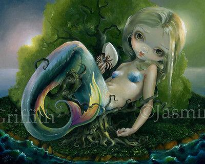 Jasmine Becket-Griffith art print mermaid fairy deserted island SIGNED Stranded