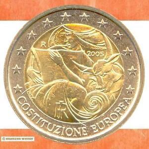 Spécial Pièces Italie 2 Euro Pièce De Monnaie 2005 Ue Constitution