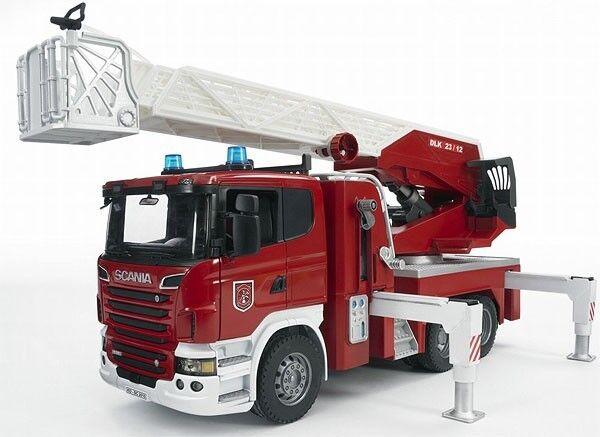 Bruder Toys Scania R-Série Feu Moteur Pompe à eau lumières et module sonore neuf
