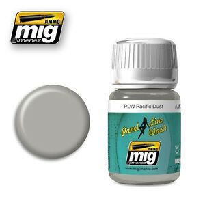 Ammo-of-Mig-A-MIG-1604-Panel-Line-Wash-PLW-Pacific-Dust-Wash-Enamel-35ml