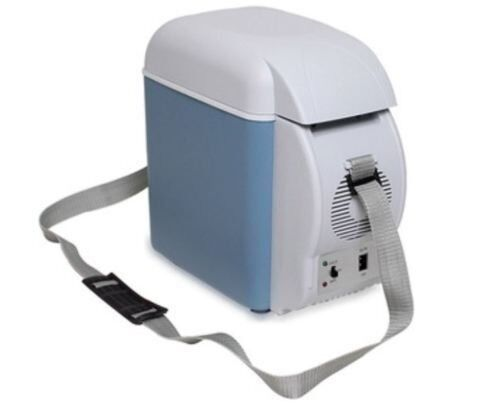 7.5L Blue Car Small Refrigerator 12V Mini Fridge Cooler/Warmer Metal Camping