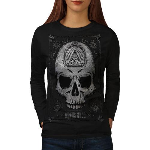 Skull Devil Head Eye Women Long Sleeve T-shirt NEWWellcoda