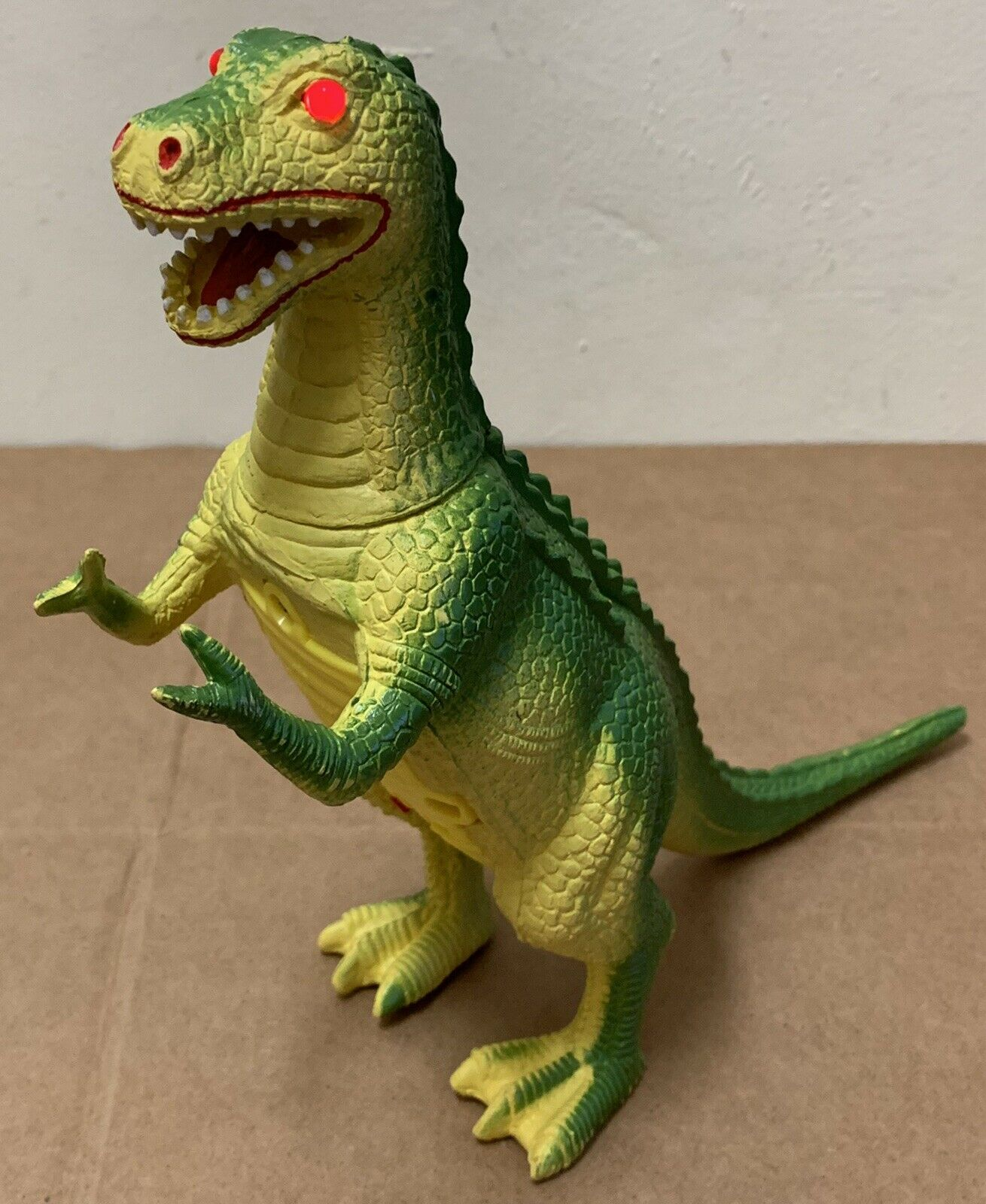 Rare Vintage Imperial Dinosaur Working rot Eyes & Sound Tyrannosaurus Rex 1990